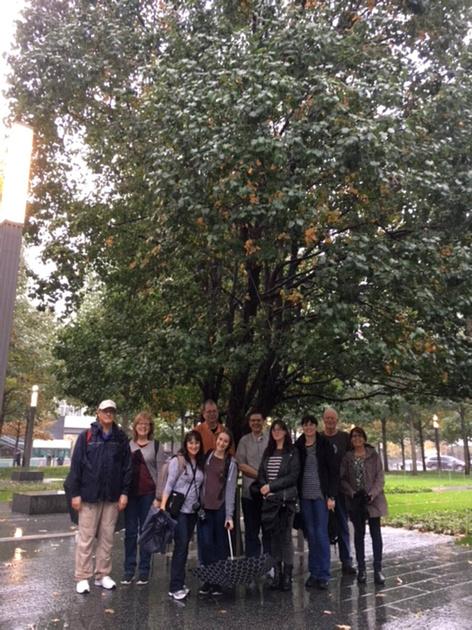 Tour Group at the Survivor Tree